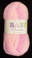 James C Brett - Baby Marble DK - BM01 Cerise/Pink/Peach Mix