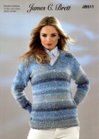 Knitting Pattern - James C Brett JB511 - Northern Lights DK - Sweater