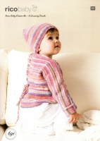 Knitting Pattern - Rico 691 - Baby Dream DK - Wrap-over Cardigan and Hat