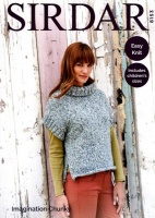 Knitting Pattern - Sirdar 8153 - Imagination Chunky - Cowl Neck Top
