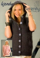 Knitting Pattern Womens Gilet : Cottontail Crafts - Knitting Pattern 5579 - Gilet in Wendy Serenity Super Chu...