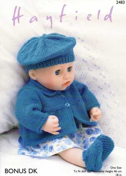 Cottontail Crafts Knitting Pattern 2483 Baby Dolls Jacket