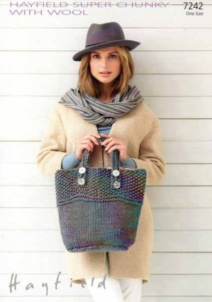 Cottontail Crafts Bags Hayfield Knitting Pattern 7242