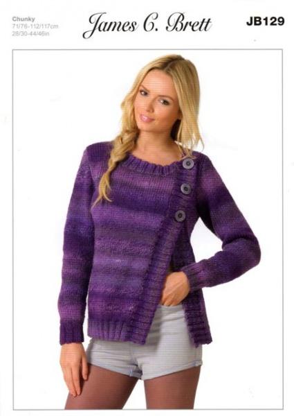 Cottontail Crafts Knitting Pattern Jb129 Ladies Cardigan In