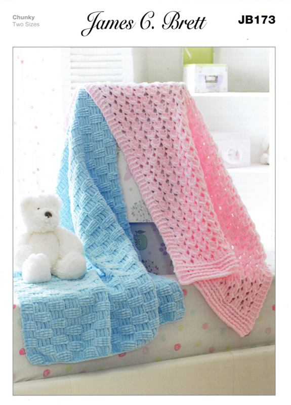 Cottontail Crafts Knitting Pattern Jb173 For A Babies Blanket In