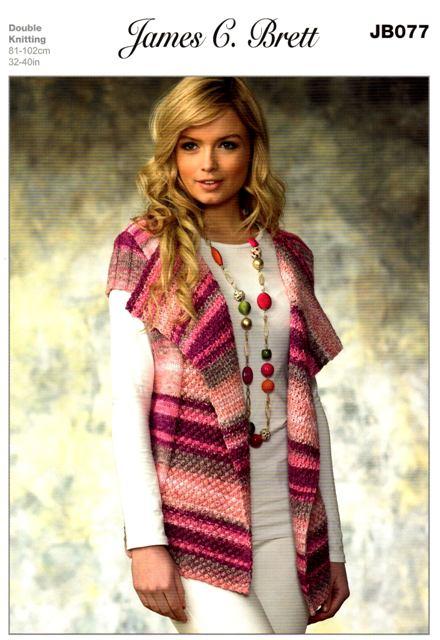 Cottontail Crafts Knitting Pattern Jb077 Ladies Cardigan In
