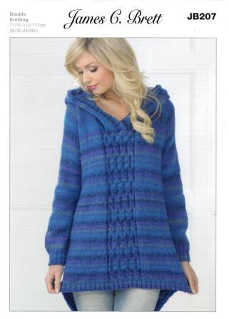 Cottontail Crafts James C Brett Knitting Pattern Jb207 Ladies