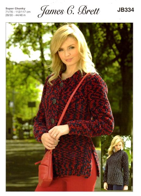 Cottontail Crafts Knitting Pattern Jb333 Sweater Cardigan In
