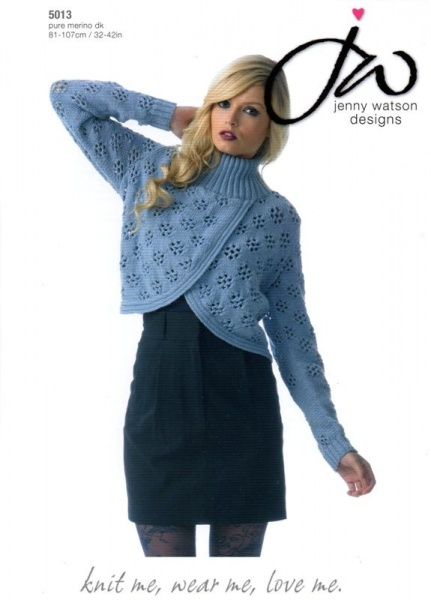Cottontail Crafts Knitting Pattern 5013 For A Ladies Jacket In
