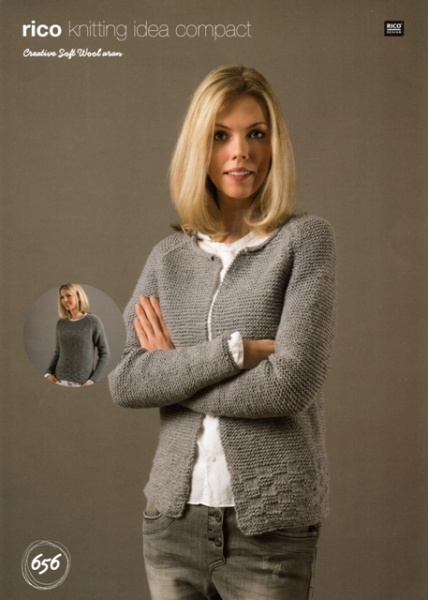 Cottontail Crafts Knitting Pattern 656 Sweater Cardigan In