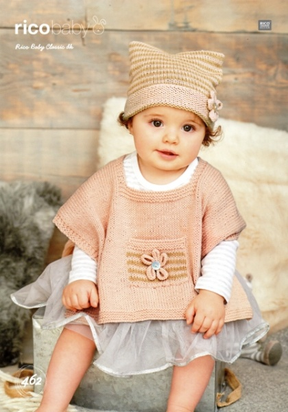 Cottontail Crafts - Knitting Pattern 462 - Children\'s Ponchos & Hats ...