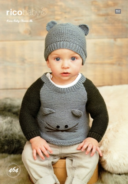 Cottontail Crafts - Knitting Pattern 464 - Children\'s Sweaters ...