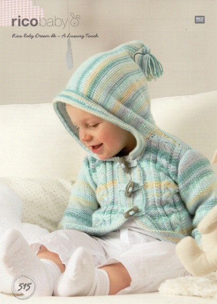 Cottontail Crafts - Knitting Pattern 515 - Cabled Jacket for Baby in ...