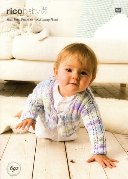 Cottontail Crafts - Knitting Pattern 692 - Cardigan for Baby in Rico ...