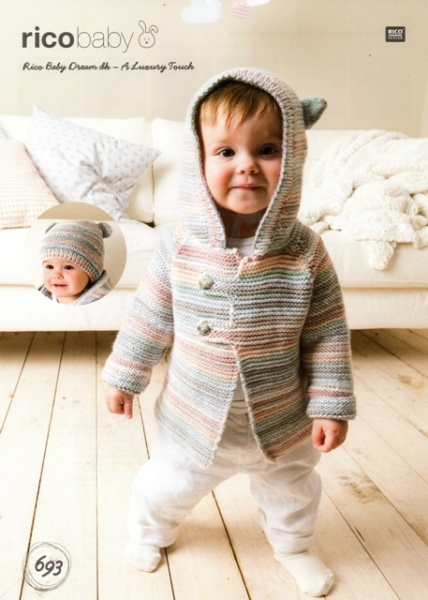 Cottontail Crafts - Knitting Pattern 693 - Jacket and Hat for Baby ...