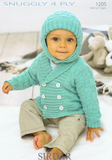 Cottontail Crafts Knitting Pattern 1205 Babies Jacket Helmet