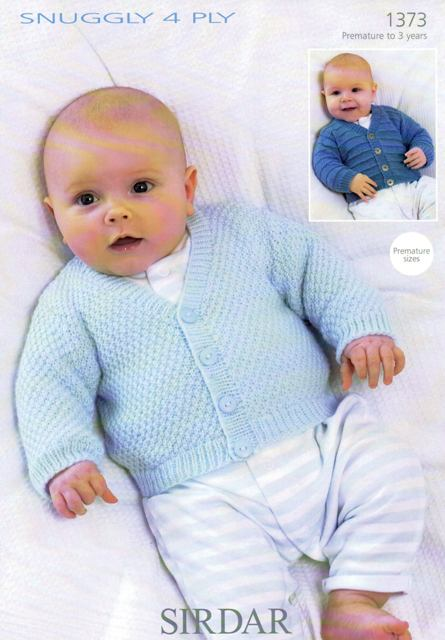 Cottontail Crafts Knitting Pattern 1373 Babys Cardigans In