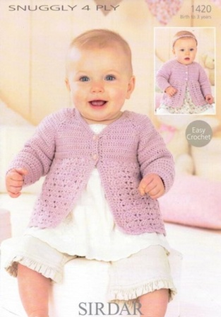 Cottontail Crafts Knitting Pattern 1420 Cardigans In Sirdar