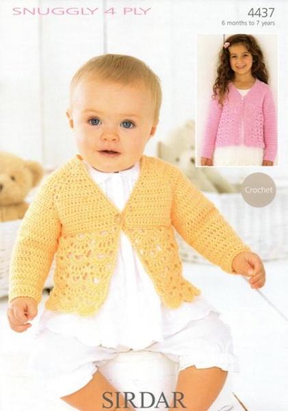 Cottontail Crafts Crochet Pattern 4437 Cardigan In Sirdar
