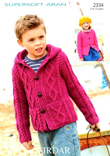 Cottontail Crafts Knitting Pattern 2334 Cardigan In Sirdar