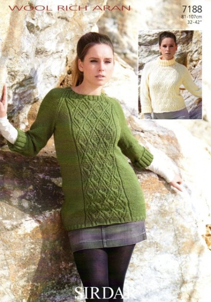 Cottontail Crafts Knitting Pattern 7188 Tunic Sweater In