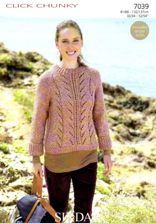 Free Purse Knitting Patterns : Cottontail Crafts - Knitting Pattern - Sirdar 7039 - Click Chunky - Lady...
