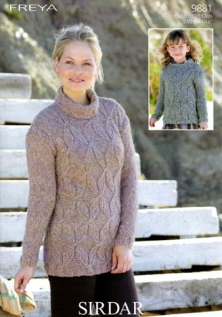 Cottontail Crafts Knitting Pattern 9881 Sweater Tunic In
