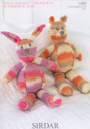 Cottontail Crafts Knitting Pattern 1480 Toys In Sirdar Snuggly