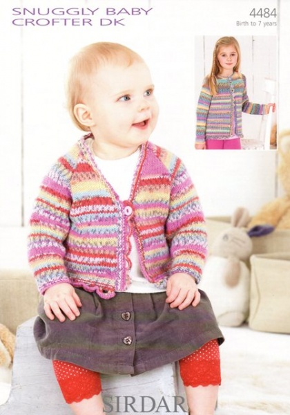 Sirdar Free Knitting Patterns For Babies : Cottontail Crafts - Knitting Pattern 4484 - Cardigans in Sirdar Snuggly Baby ...