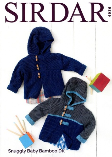 Cottontail Crafts Sirdar Knitting Pattern 4936 Baby Boy Duffle