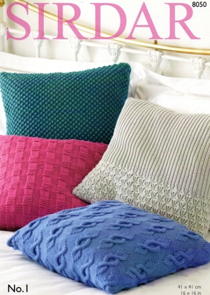 Cottontail Crafts Sirdar Knitting Pattern 8050 Cushion Covers