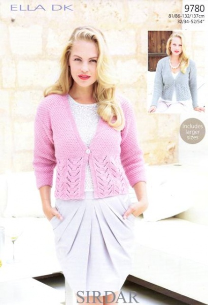 Cottontail Crafts - Knitting Pattern 9780 - Women\'s Cardigans in ...