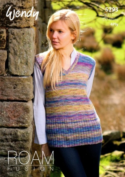 Cottontail Crafts Knitting Pattern 5793 V Neck Boat Neck Top