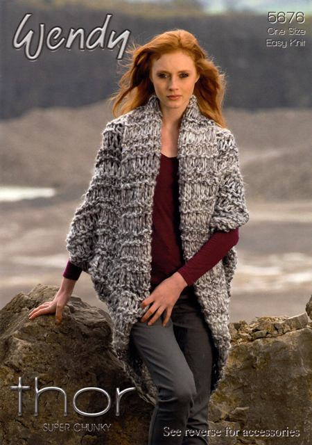 Cottontail Crafts Knitting Pattern 5676 Cocoon Cardigan Mesh