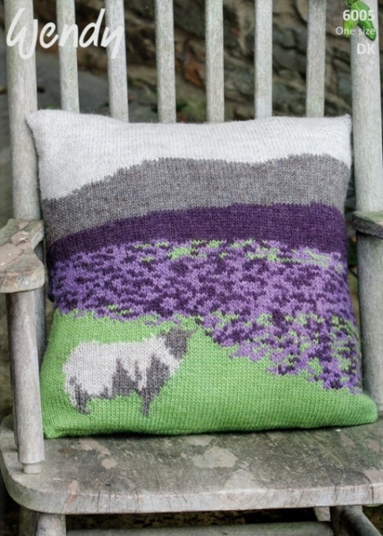 Cottontail Crafts - Wendy Knitting Pattern - 6005 - Cushion Cover - Moorland ...