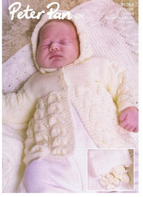 Peter Pan Baby Knitting Patterns : Cottontail Crafts - Knitting Pattern - Peter Pan P1054 - DK
