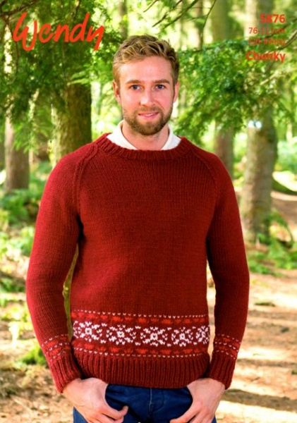 Cottontail Crafts - Wendy Knitting Pattern 5876 - Raglan Sweater ...