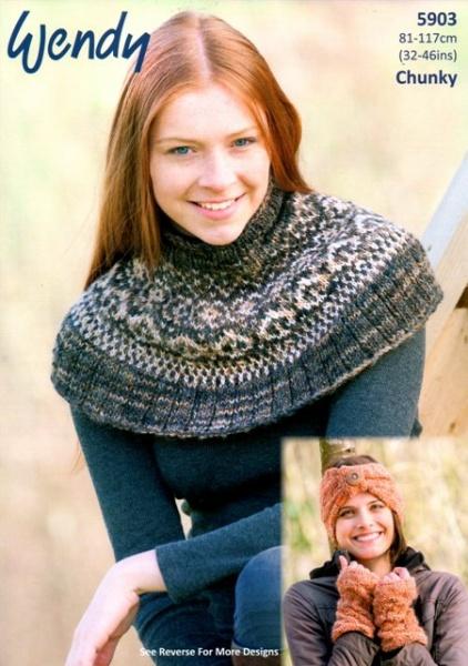 Cottontail Crafts - Wendy Knitting Pattern 5903 - Fairisle Neck ...