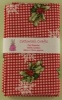 Fat Quarter - 158 Christmas - Holly - Red