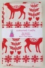 Fat Quarter - P276 Christmas - Festive Reindeer- Red