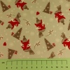 Fabric by the metre - 263 Christmas - Festive Foxes - Silver