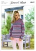 Knitting Pattern - James C Brett JB437 - Marble Chunky - Sweater