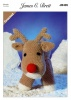 Crochet Pattern - James C Brett JB405 - Flutterby Chunky - Rudolph the Reindeer