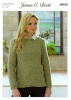Knitting Pattern - James C Brett JB430 - Misty DK - Sweater