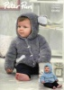 Knitting Pattern - Peter Pan P1294 - Precious Chunky - Hooded Sweater and Jacket