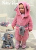 Knitting Pattern - Peter Pan P1297 - Precious Chunky - Hooded Dressing Gown and Mouse