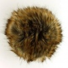 Luxury Fake Fur PomPon - 026 Brown-Cinnamon