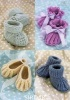 Knitting Pattern - Sirdar 1487 - Snuggly 4 Ply - Shoes & Bootees