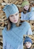 Knitting Patterns - Wendy 5989 - Pixile DK - Neck warmer & lace Panelled Hat, Fairisle Hat, Beret and Fingerless Gloves