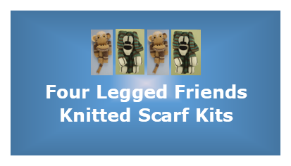 Four Legged Friends - Knitted Scarf Kits  by Wendy